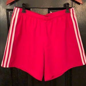 Adidas red basketball shorts M